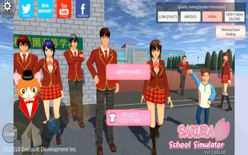 Download Sakura School Simulator Apk Terbaru